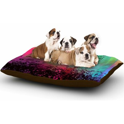 alyZen Moonshadow A Grand Deluge Abstract Dog Pillow with Fleece Cozy Top