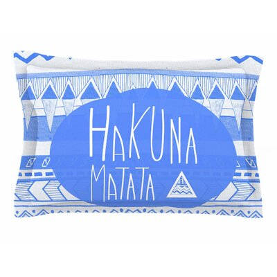Vasare Nar Hakuna Matata Azure Blue Illustration Sham Size: King