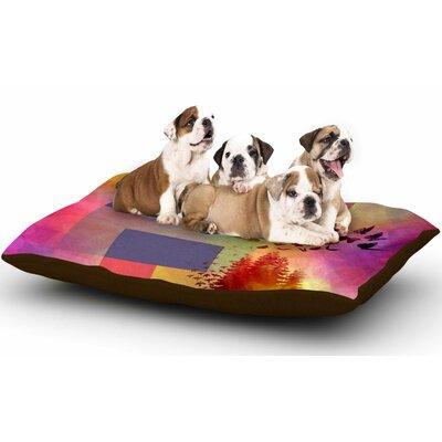 AlyZen Moonshadow Teacup Fantasy Birds Dog Pillow with Fleece Cozy Top