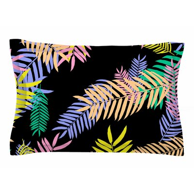 Vasare Nar Tropical Palm 90s Floral Sham Size: Queen