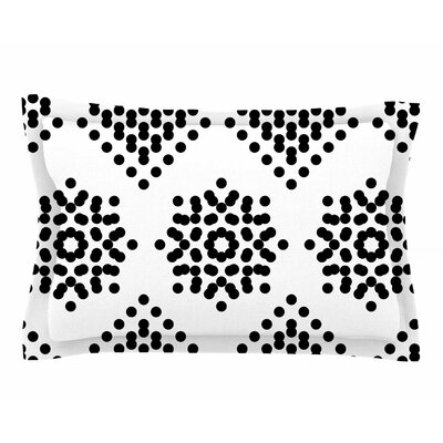 Tiny September Black and White Dot Party Digital Sham Size: 20 H x 30 W x 1 D