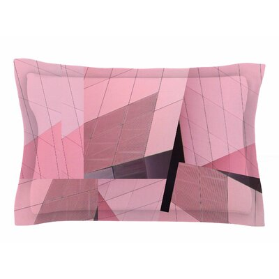 Tiny September Pink Flamingo Digital Sham Size: Queen