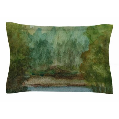 Cyndi Steen Blue Lake Channel Watercolor Sham
