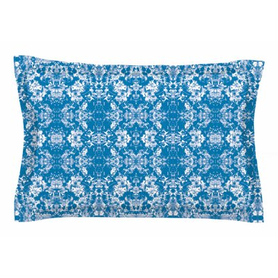 Carolyn Greifeld Blue Modern Damask Sham Size: Queen