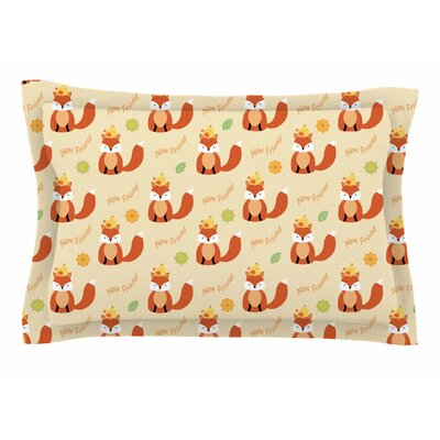 Cristina Bianco Design Fox - New Friends Illustration Sham Size: Queen