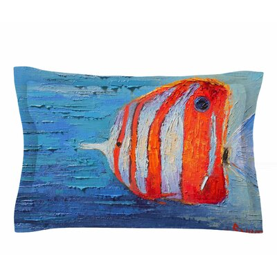 Carol Schiff Coral Reef Fish 1 Painting Sham Size: Queen