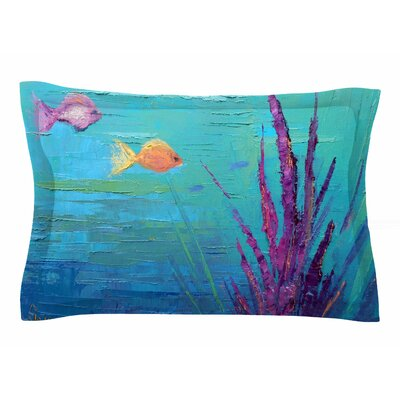 Carol Schiff Key Largo Coral Reef Painting Sham Size: Queen
