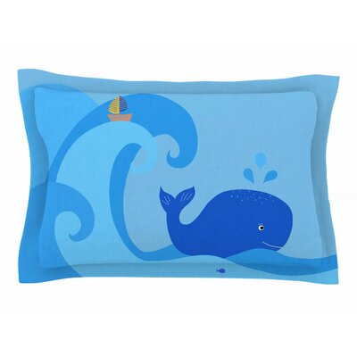 Cristina Bianco Design Blue Whale Sham Size: King
