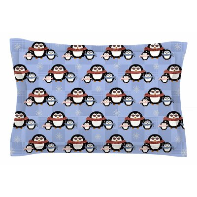 Cristina Bianco Design Cute Penguins Sham Size: Queen