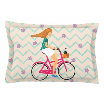 Cristina Bianco Design Bicycle Ride Sham Size: 20 H x 40 W x 0.25 D