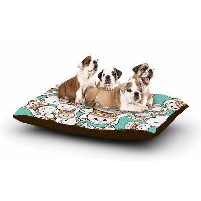 Juan Paolo Ramen Cats Dog Pillow with Fleece Cozy Top