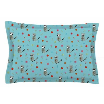 Cristina Bianco Design Cute Raccoon Illustration Sham Size: King