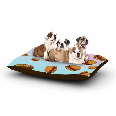 Juan Paolo Cheeseburger Paradise Dog Pillow with Fleece Cozy Top