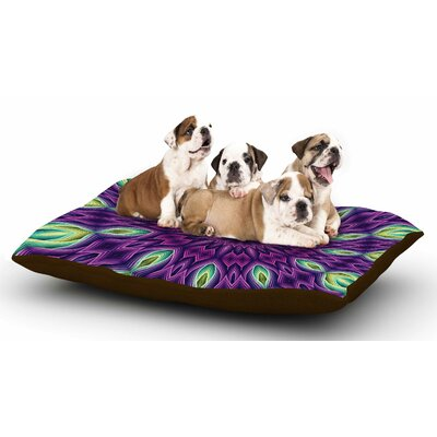 Sylvia Cook Zapped - Purple Dog Pillow with Fleece Cozy Top