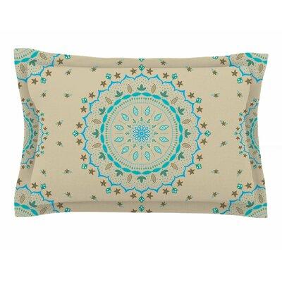 Cristina Bianco Design Blue Beige Mandala Painting Sham Size: King