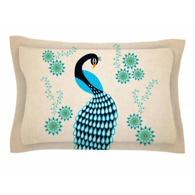 Cristina Bianco Design Peacock Illustration Sham Size: 20 H x 40 W x 0.25 D