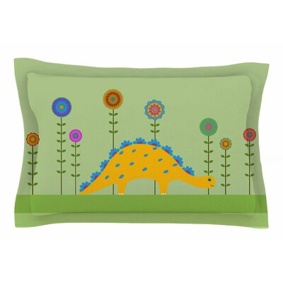 Cristina Bianco Design Cute Dinosaur Illustration Sham Size: Queen