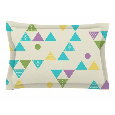 Cristina Bianco Design Colorful Triangles Illustration Sham Size: Queen