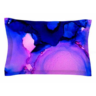 Claire Day Purple Jellies Abstract Painting Sham Size: Queen