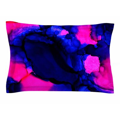Claire Day Pink Jellies Abstract Painting Sham Size: Queen