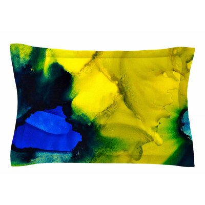 Claire Day Drifting Abstract Painting Sham Size: Queen