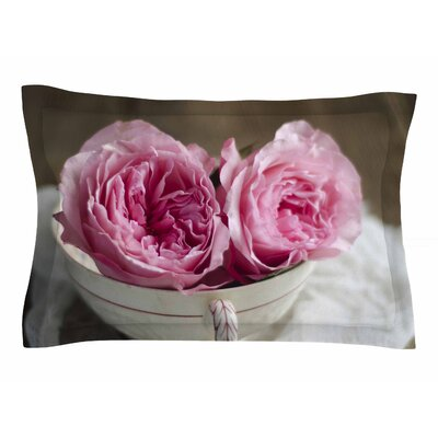 Cristina Mitchell Roses in a Tea Cup Floral Photography Sham Size: King