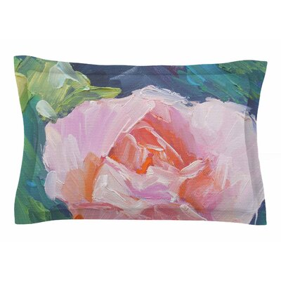 Carol Schiff Coral Rose Painting Sham Size: Queen