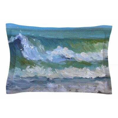 Carol Schiff Atlantic Breakers Painting Sham Size: King