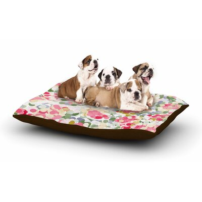 Matthias Hennig Soft Dots Floral Dog Pillow with Fleece Cozy Top
