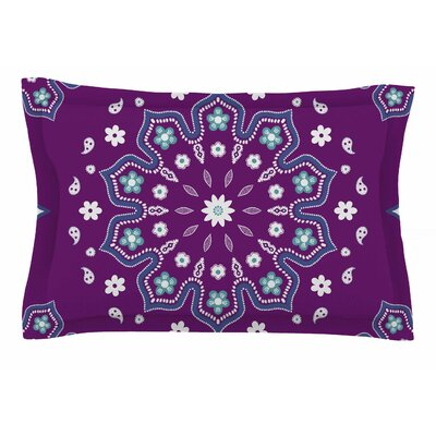 Cristina Bianco Design Purple Mandala Illustration Sham Size: Queen