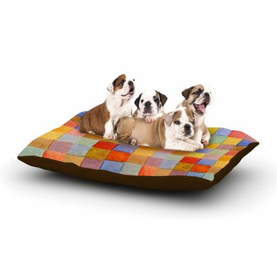 Marianna Tankelevich Rainbow Mozaic Dog Pillow with Fleece Cozy Top