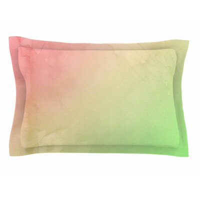 Cafelab Greenery and Pink Watercolor Sham Size: King