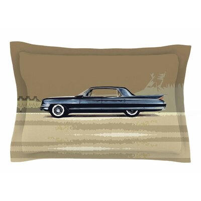Bruce Stanfield Cadillac Fleetwood 1961 Digital Sham Size: Queen