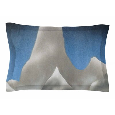 Bruce Stanfield Snowy Mountains Painting Sham Size: Queen