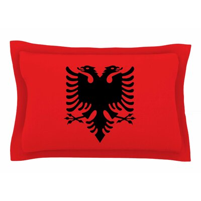 Bruce Stanfield Flag of Albania Digital Sham Size: 20 H x 40 W x 0.25 D