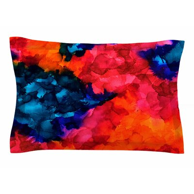 Claire Day Jaded Abstract Painting Sham Size: 20 H x 30 W x 1 D