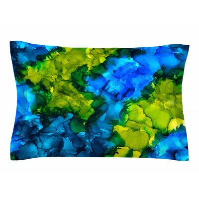 Claire Day Islands Abstract Painting Sham Size: Queen