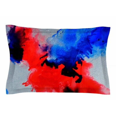 Claire Day Glory Abstract Painting Sham Size: Queen