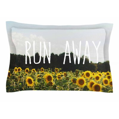 Chelsea Victoria Run Away Travel Typography Sham Size: 20 H x 40 W x 0.25 D