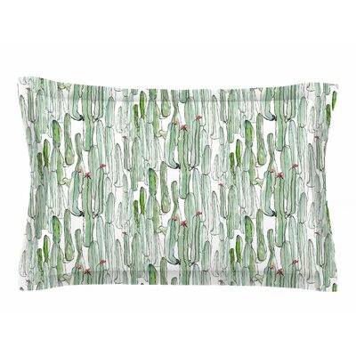 Danii Pollehn Cacti Illustration Sham Size: Queen