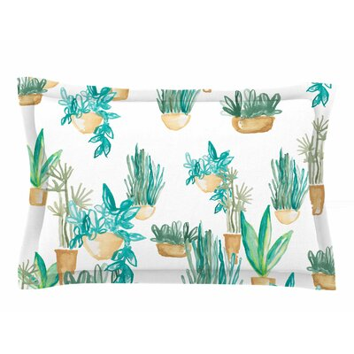 Danii Pollehn House Plants Illustration Sham Size: 20 H x 40 W x 0.25 D
