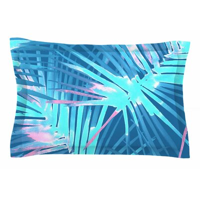 Danii Pollehn Neon Tropical Illustration Sham Size: Queen