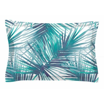 Danii Pollehn Palm Tree Branches Illustration Sham Size: Queen