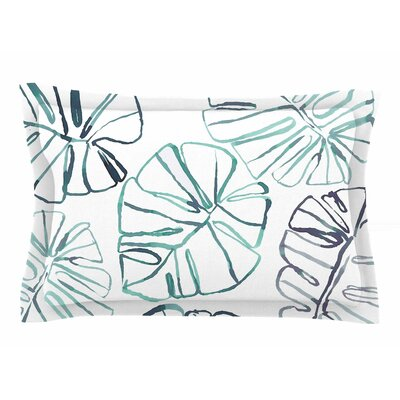 Danii Pollehn Monstera Illustration Sham Size: Queen