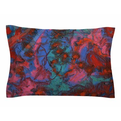 Jeff Ferst Koi Pond Painting Sham Size: Queen