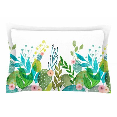 Li Zamperini Cute Foliage Watercolor Sham Size: Queen