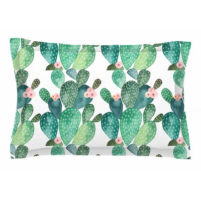Li Zamperini Cactus Watercolor Sham Size: 20 H x 30 W x 1 D