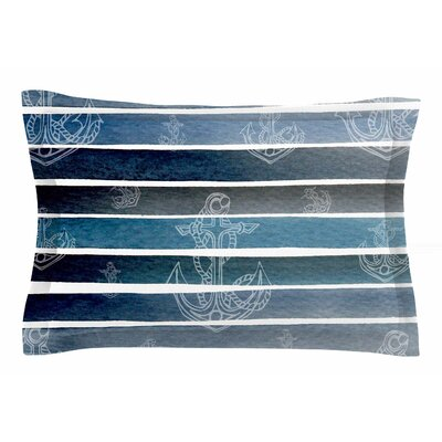 Li Zamperini Marine II Watercolor Sham Size: King