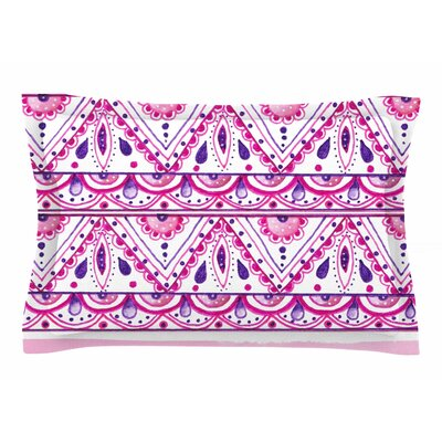 Li Zamperini 'Aztec' Watercolor Sham Size: Queen