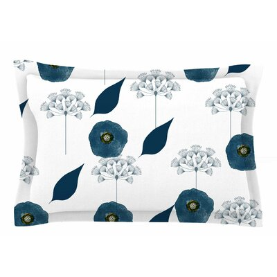 Li Zamperini Blue Collection - Lili Floral Watercolor Sham Size: Queen